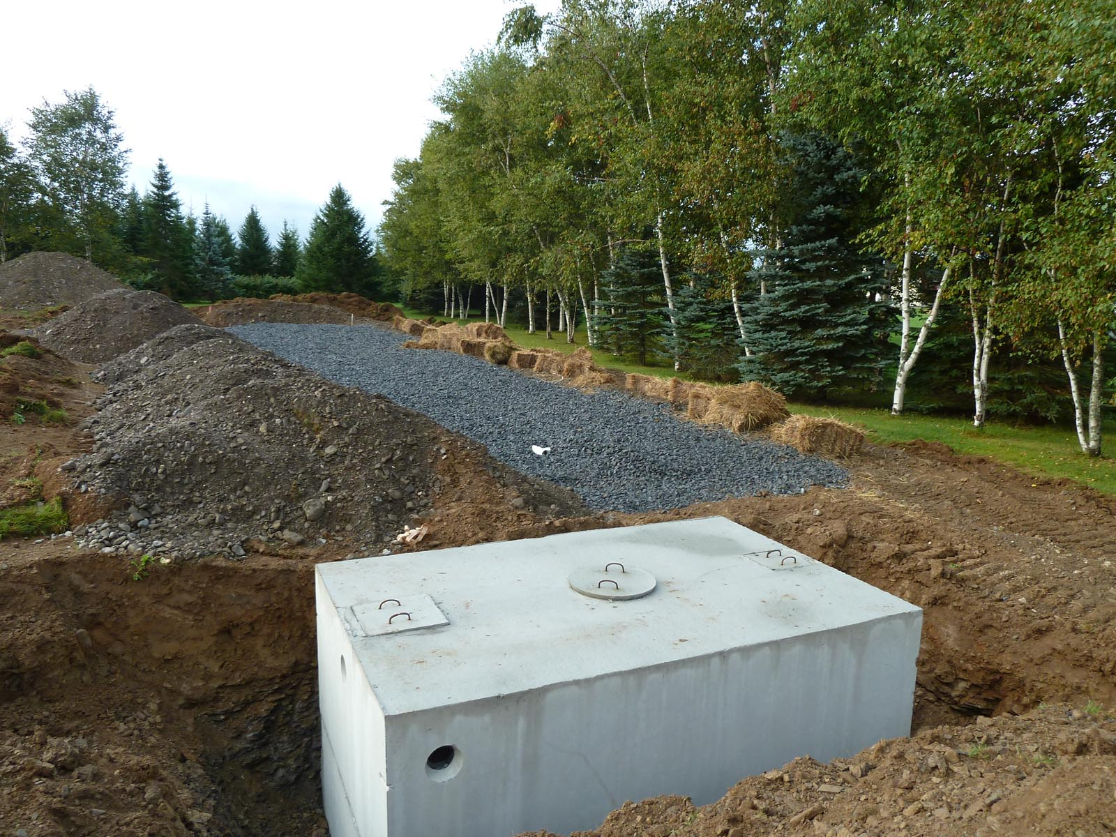 Concrete Forms Radiant Heat And Septic Tank Quadomated