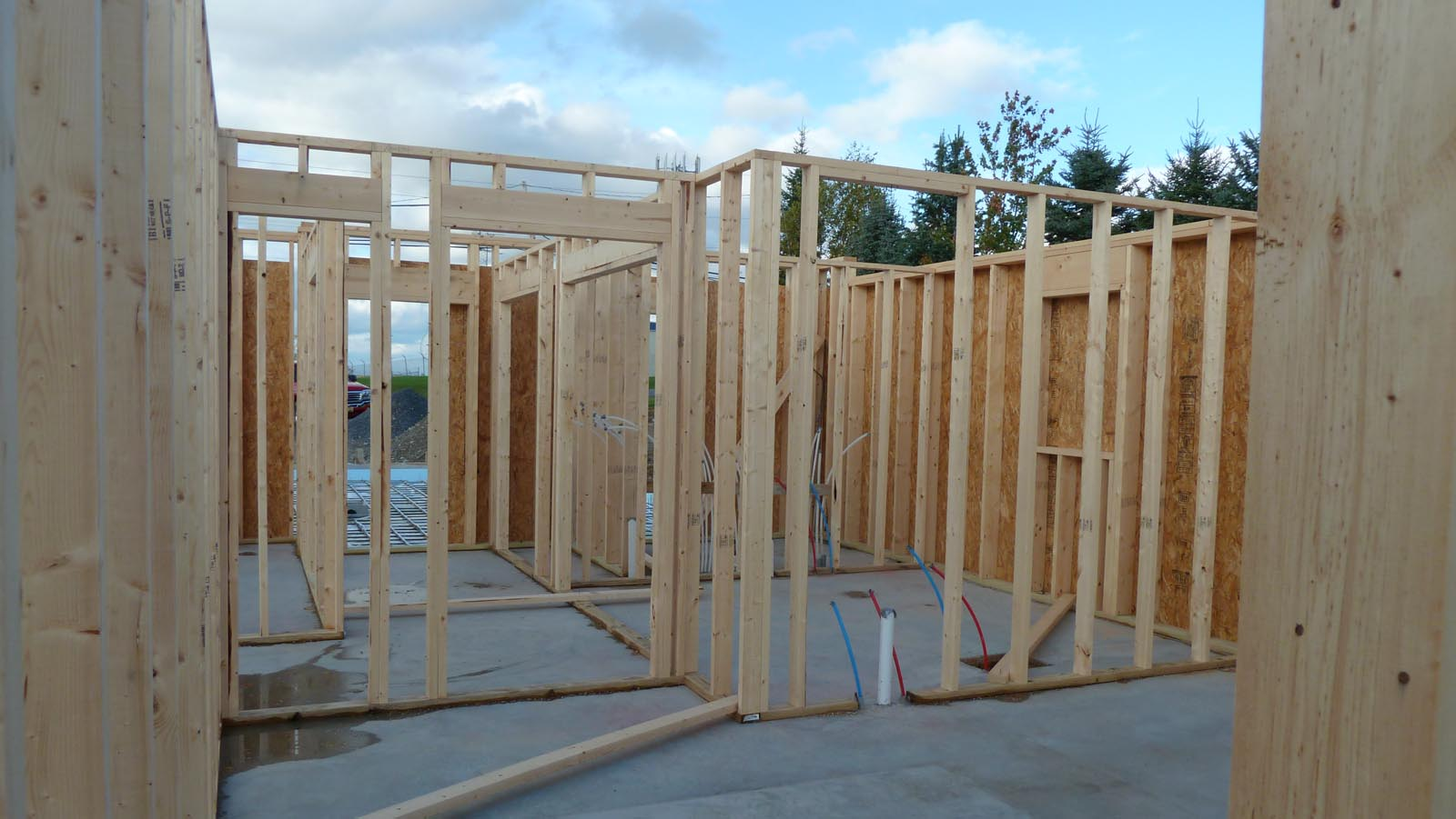 From ... & Quadomated » Interior Wall Framing Garage Radiant Heat Tubing