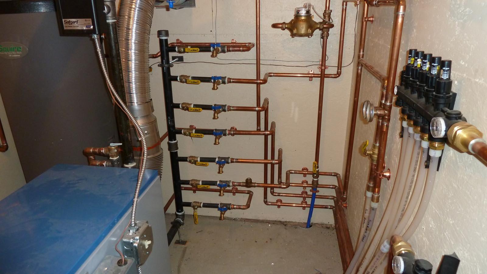 Radiant Heat Boiler System Images