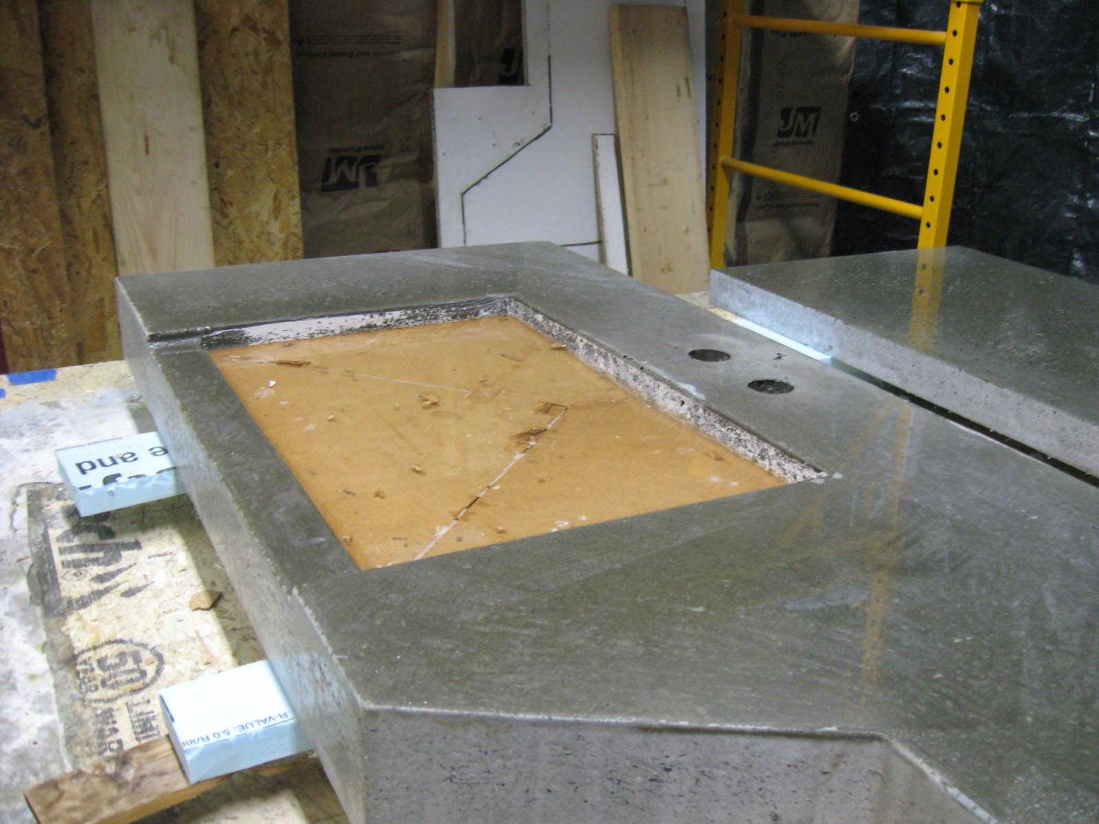Countertop Mix : This Is What It Looked like When Things Were Still Relatively Rough
