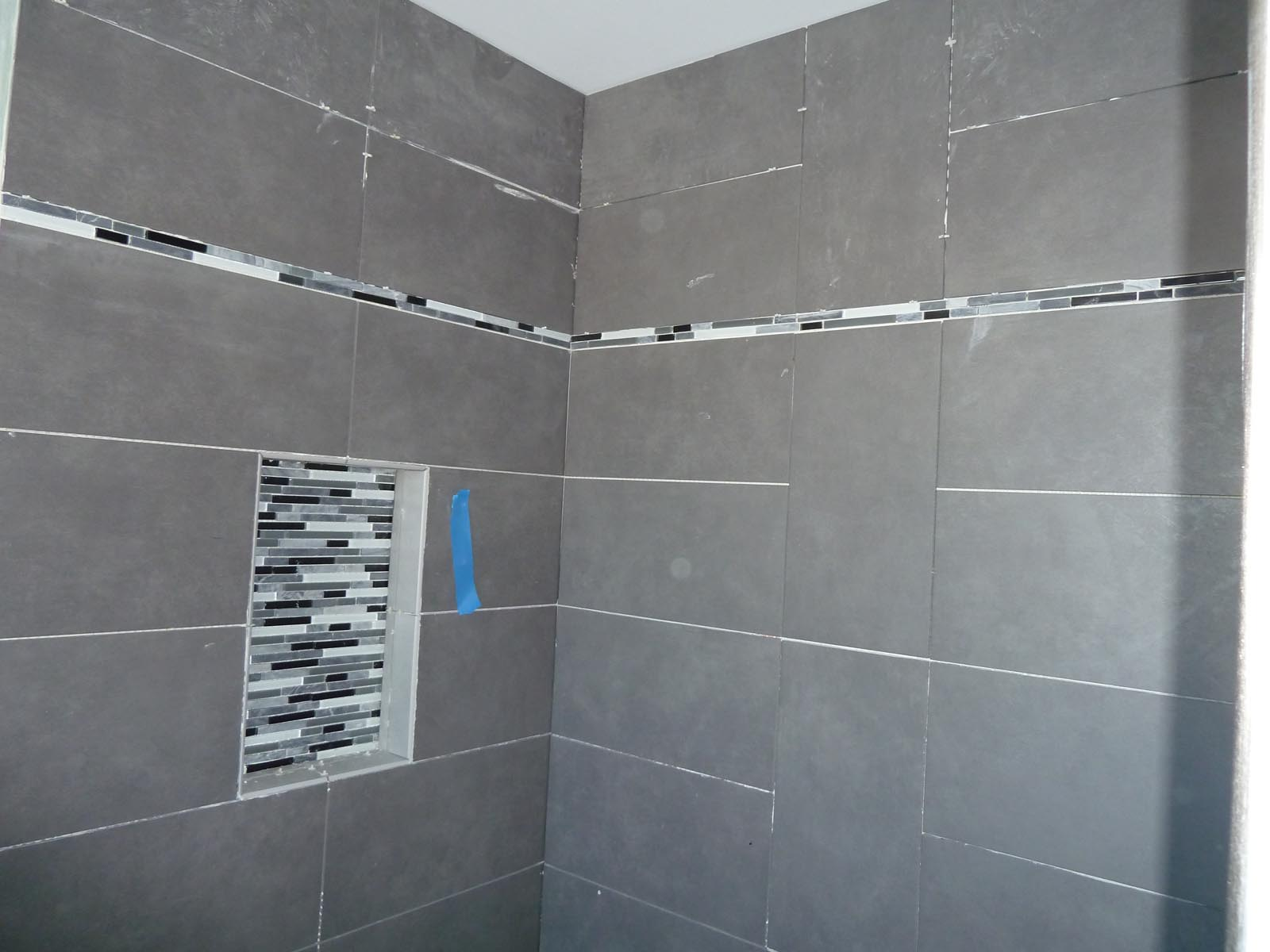 through tile part shower watch tiles failure repair youtube and