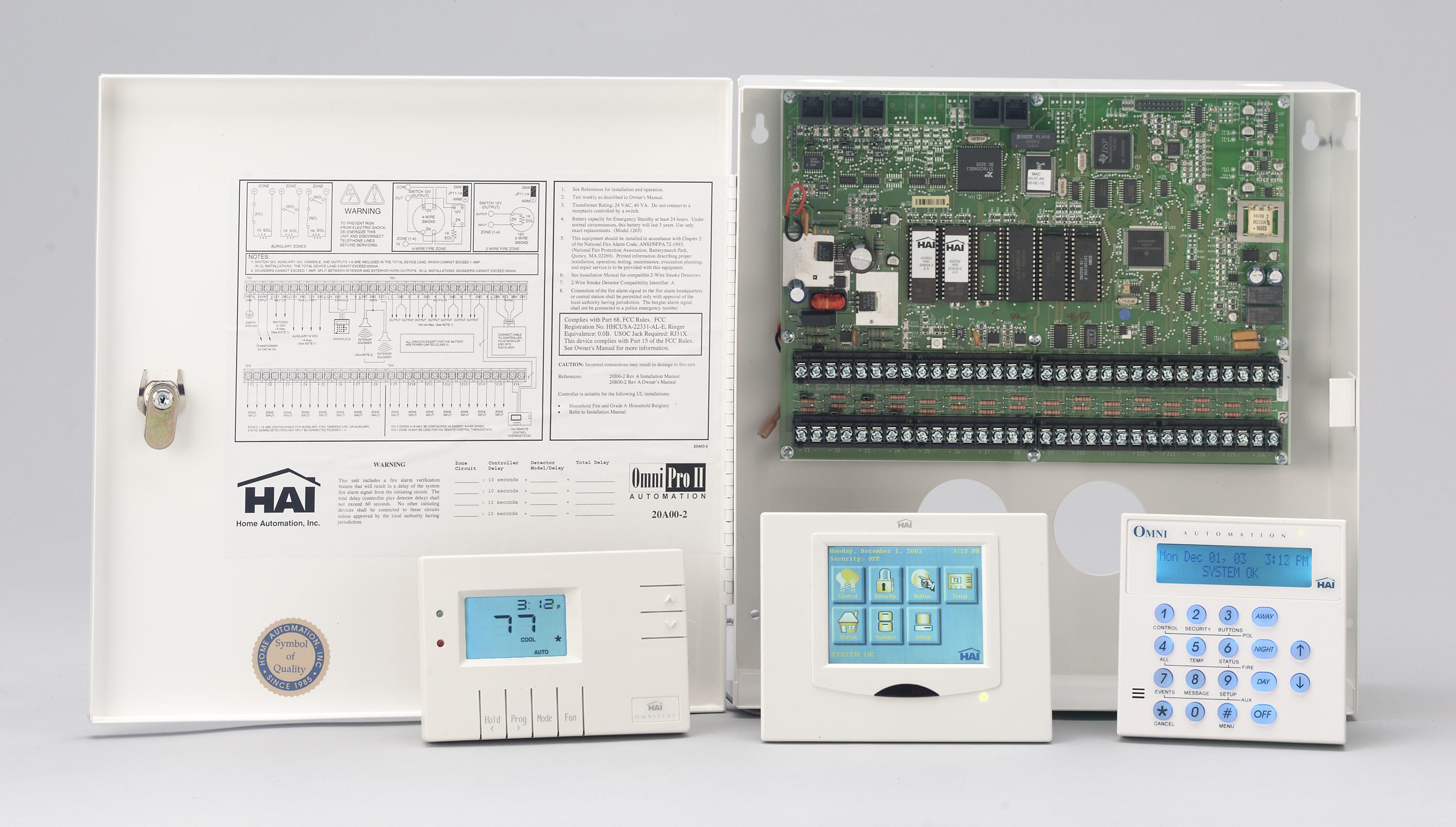 Quadomated » Home Automation Controller – HAI OmniPro II | Basic Wiring Home Automation Hai |  | Quadomated