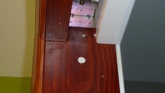 """Tane 3/8"""" Recessed Door Contact Sensor Installed in Doorframe"""