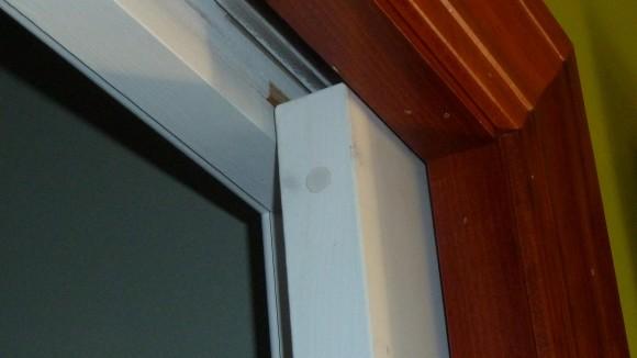 """Tane 3/8"""" Recessed Door Contact Sensor Installed in Door"""
