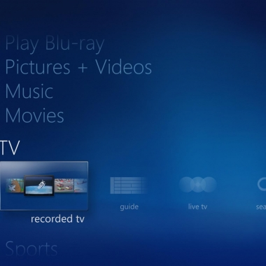 Windows Media Center - Home Screen