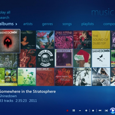 Windows Media Center - Music Library