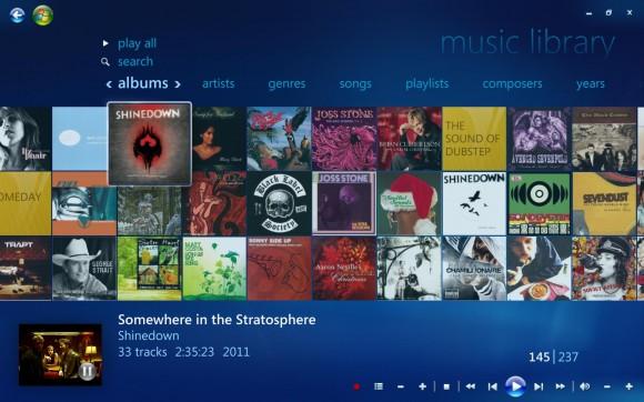 Windows Media Center - Music Library