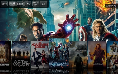 Windows Media Center - Media Browser Movie Library