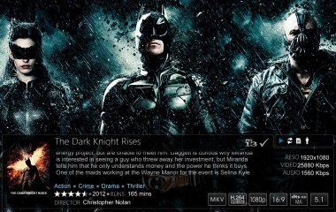 Windows Media Center - Media Browser Movie Detail