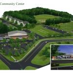 Presque Isle Community Center - Building Design Concept Aerial Rendering