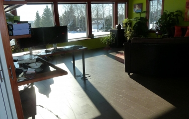 Family Room Windows - Lookout Deep the Sun Radiates into the Space
