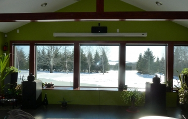Family Room Windows - A beautiful, sunny, blistery winter day - 0°F with 20-30 mph winds