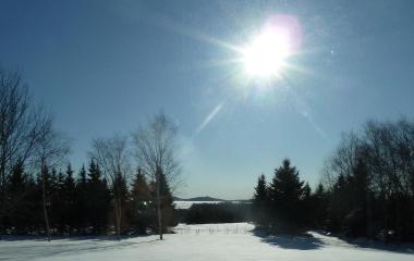 Beautiful Sunny Winter Day - Low Sun Angle on 1/2/2013